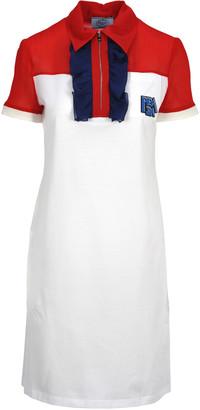 Prada Ruffled Polo Shirt Style Dress