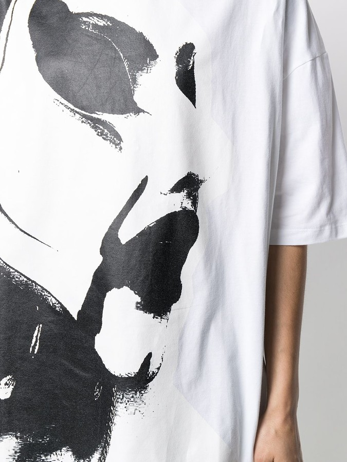 Thumbnail for your product : Charles Jeffrey Loverboy paintbrush-print oversized T-shirt