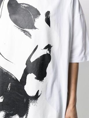 Charles Jeffrey Loverboy paintbrush-print oversized T-shirt