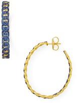 Freida Rothman Baroque Circle Link Hoop Earrings
