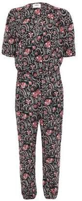 BA&SH Hollywood Wrap-effect Floral-print Voile Jumpsuit