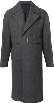 Solid Homme Belted Long Coat