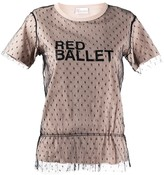 RED Valentino point d'Esprit tulle logo T-shirt