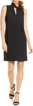 Sam Edelman Sleeveless Tie Neck Shift Dress