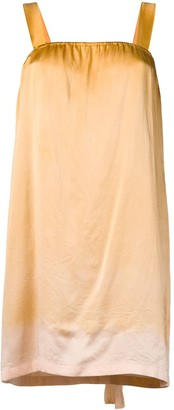 Raquel Allegra gradient effect mini dress
