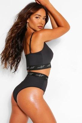 boohoo Sculpt Elastic Tape High Waisted Knickers