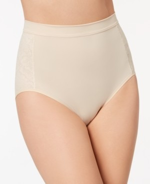 Maidenform Women's Firm Foundations Firm-Control High-Waist Lace-Panel Brief DM1028