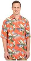 Tommy Bahama Big Tall Cool, Palm Collected Camp Shirt Men's Short Sleeve Button Up