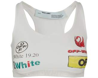 Off-White Off White Multi-logo sports bra