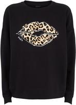 New Look Leopard Print Lips Slogan Sweatshirt