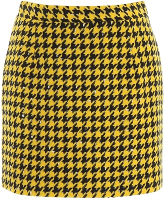 Alessandra Rich Houndstooth Mini Skirt