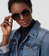 LOFT Oversized Aviator Sunglasses