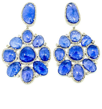 Arthur Marder Fine Jewelry 14K & Silver 2.87 Ct. Tw. Diamond & Tanzanite Earrings