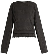 Haider Ackermann Polonium raw-hem cotton sweatshirt