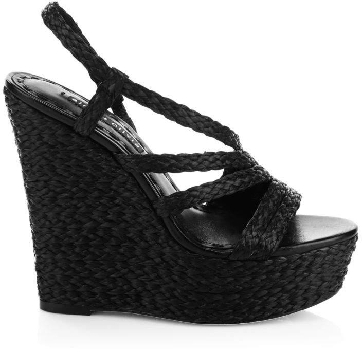 e88c90901c Black Slingback Platform Heels - ShopStyle UK
