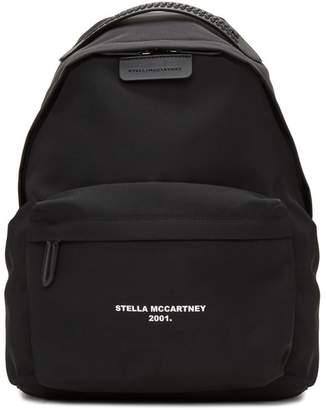 Stella McCartney Black Logo Go Falabella Backpack