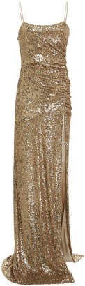 Dundas Ruched Sequin Gown