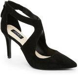 Jones New York Black Christie Pointed Toe Cutout Pumps