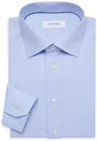 Eton Slim-Fit Woven Chevron Dress Shirt
