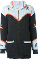 Stella McCartney embroidered nature chunky cardigan - women - Cotton/Virgin Wool - 36