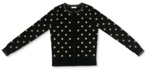 Charter Club Metallic-Dot Button Cardigan, Created for Macy's
