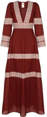 Oli embroidered maxi dress