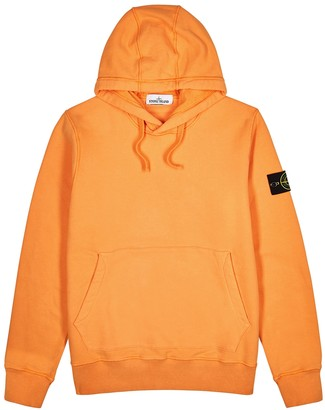 Stone Island Black hooded cotton-jersey sweatshirt