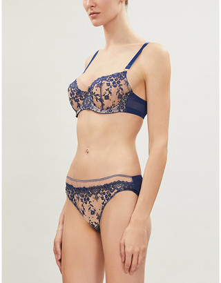 KATHERINE HAMILTON Abrielle stretch-lace and mesh bra