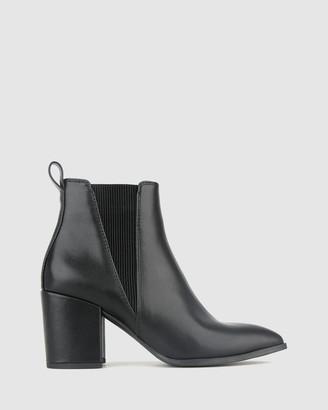 betts Cobra Block Heel Ankle Boots
