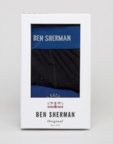 Ben Sherman Gift Box Blue Trunk and Sock Set