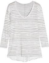 Splendid O'keeffe Striped Knitted Sweater - Light gray