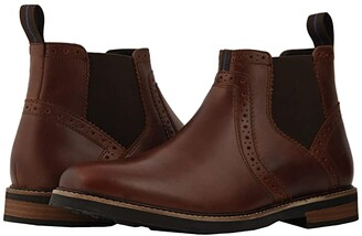 Nunn Bush Otis Plain Toe Chelsea Boot with KORE Walking Comfort Technology (Black Tumbled) Men's Boots
