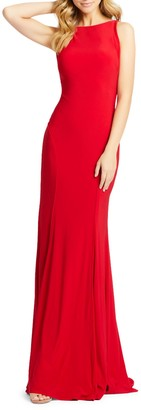 Mac Duggal Plunge Back Jersey Gown