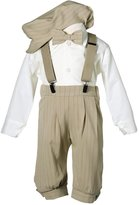 Tiny Penguins Toddler Boys Knicker Set with Suspenders and Hat - Vintage Stripe 4