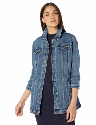 Tribal Women's Denim Maxi Jacket