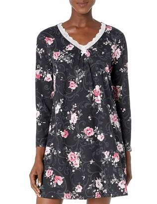 Karen Neuburger Women's Pajama Pullover Lounge Maxi Dress Nightgown