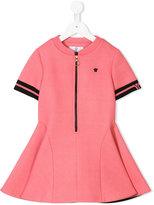 Versace zipped polo dress