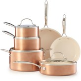 Food Network 10-pc. Nonstick Ceramic Copper Cookware Set