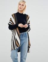 Brave Soul Striped Knit Kimono