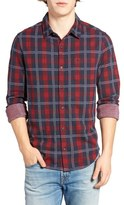 Original Penguin Men's Slim Fit Plaid Woven Shirt