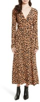 Diane von Furstenberg Women's Midi Print Silk Wrap Dress