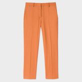 Paul Smith Women's Slim-Fit Rust Orange Wool Trousers