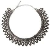 Women's Metal Choker Necklace - Silver