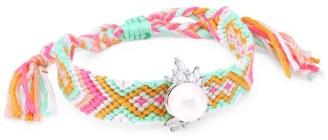 Fallon Faux-Pearl & Crystal Skinny Woven Friendship Bracelet