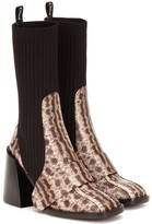 Chloé Bea embossed leather boots