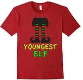 Women's Family Christmas Shirts Youngest Elf Family Matching Set Medium