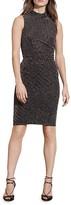 Lauren Ralph Lauren Metallic Mock Neck Dress
