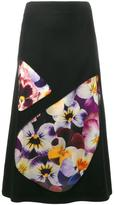 Christopher Kane pansy printed skirt - women - Silk/Nylon/Polyester/Virgin Wool - 40