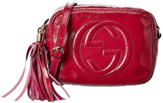 Gucci Pink Patent Leather Disco Bag