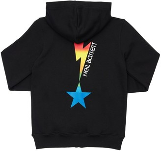 Neil Barrett Lightning Print Cotton Sweatshirt Hoodie